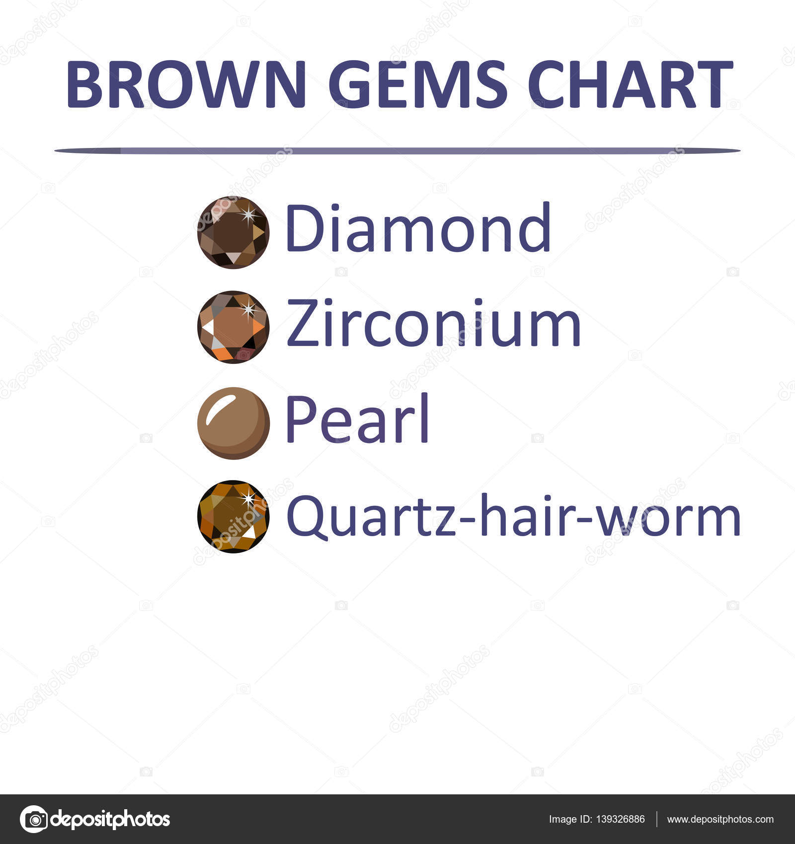 Gems brown color chart stock vector arlatis 139326886 low poly popular gems brown color graduation chart infographics vector illustration isolated on white vector by arlatis nvjuhfo Gallery