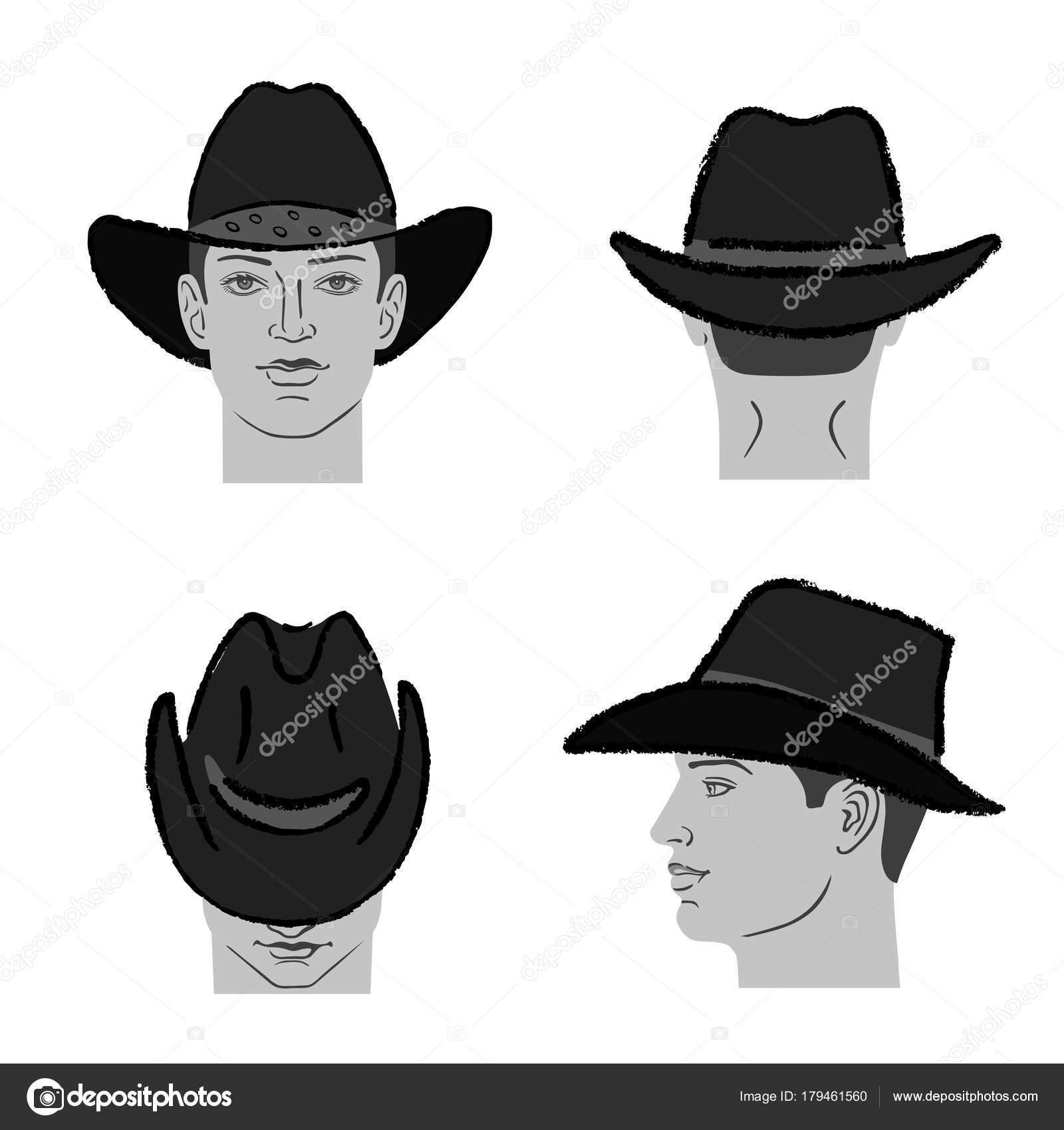 Cowboy hat template and man head — Stock Vector © arlatis #179461560
