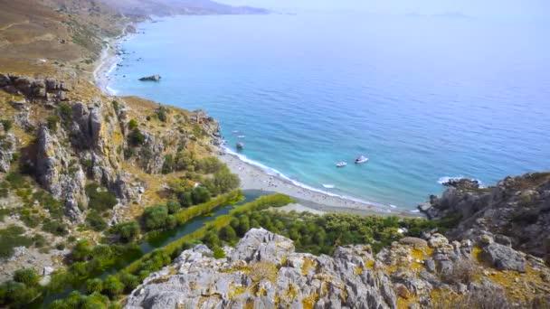 Preveli Palm beach Řecko Kréta
