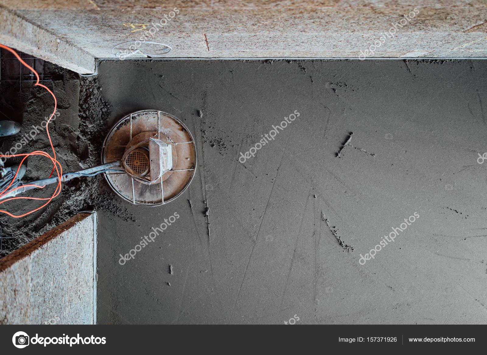 Betonboden Schleifen Final Ansicht Von Oben Stockfoto C Nikkytok