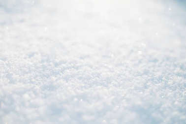 Snow texture as background with copy-space stock vector