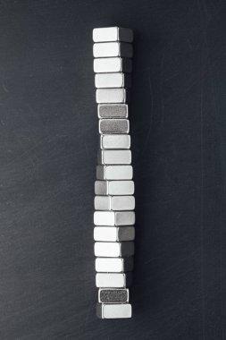 neodymium magnets spiral, black background