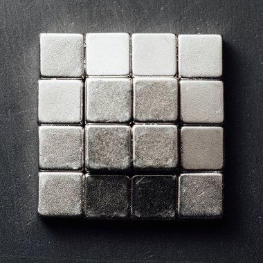 neodymium magnets squares, black background