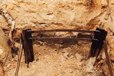 electricity grounding instalaltion, underground metal framework part