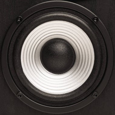 bass sound loudspeaker, close-up view