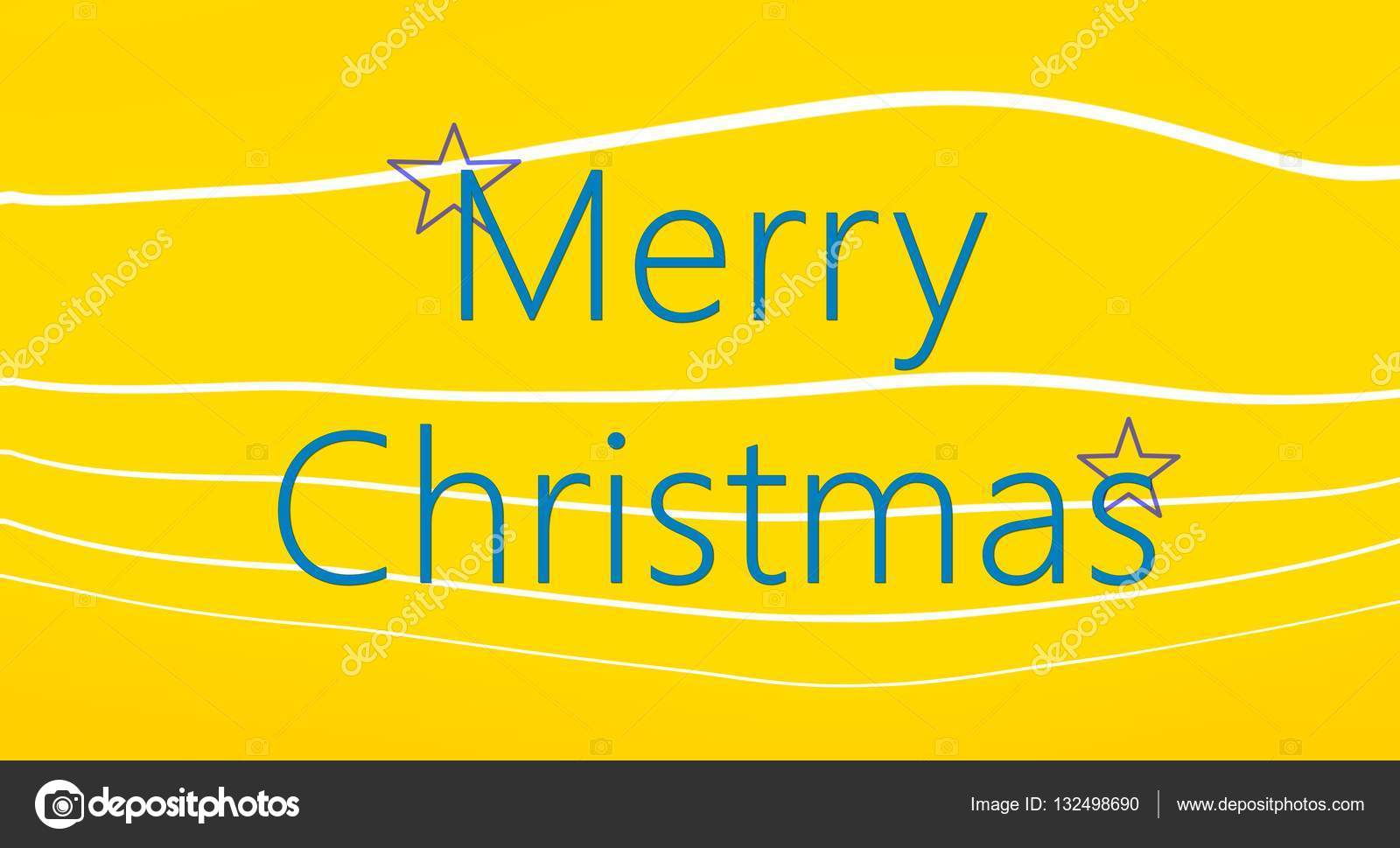 Keep calm concept. Merry Christmas card on yellow background with ...