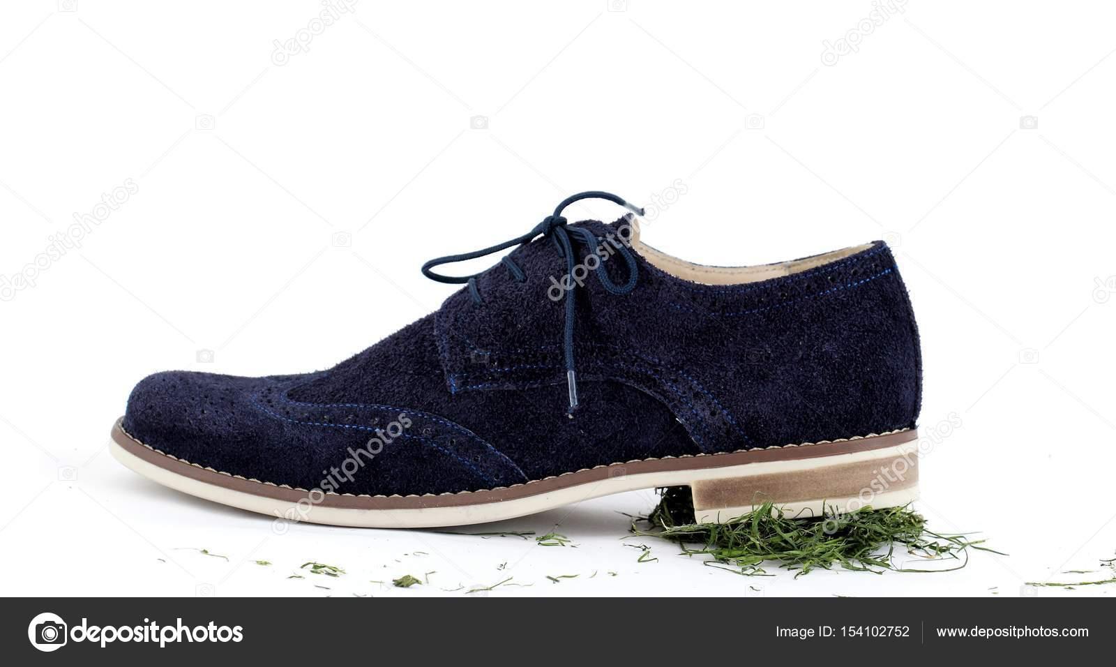 6529dfd2b535c9 scarpe maschili su sfondo bianco — Foto Stock © nehruresen #154102752