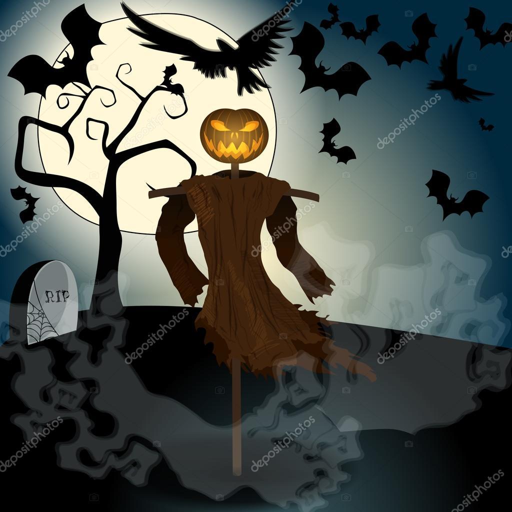 [HLF GAME] Missione: Trova il Furno e scatta una foto! #2 - Pagina 2 Depositphotos_126518794-stock-illustration-halloween-illustration-with-evil-scarecrow