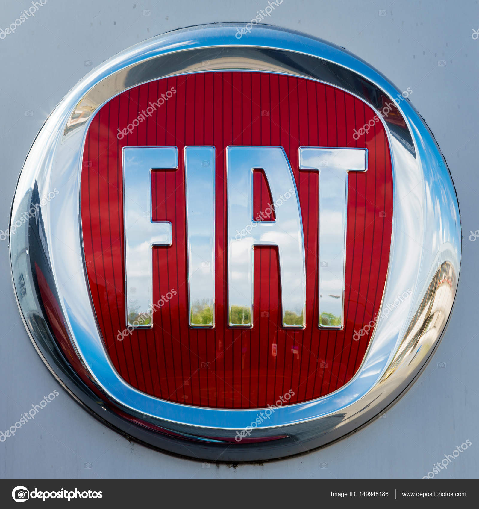 Germany Moenchengladbach April 16 2017 Logotype Of Fiat Corp