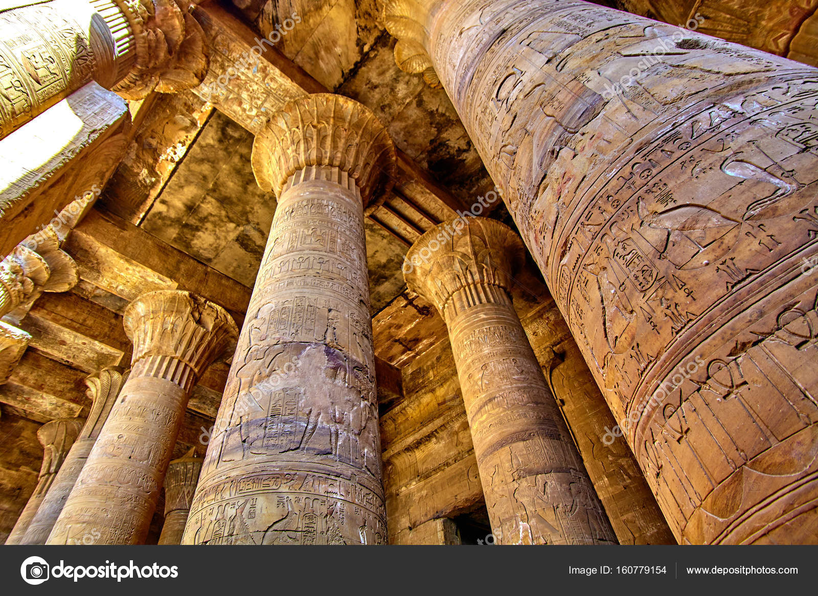 ancient egyptian architecture ruins olumns of the temple of hor