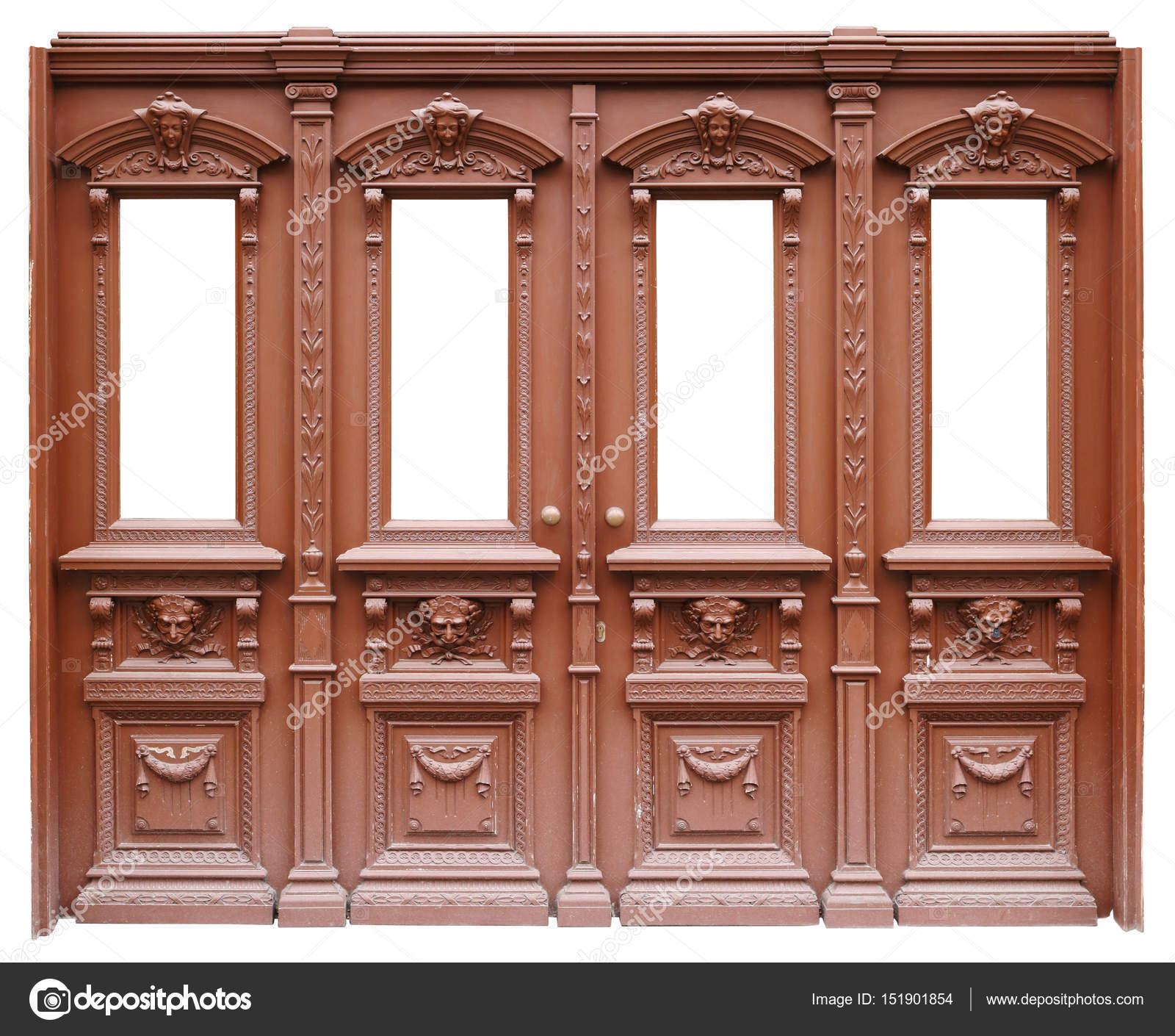 Doo madera vintage ancho marrón grande — Foto de stock © vilaxlt ...