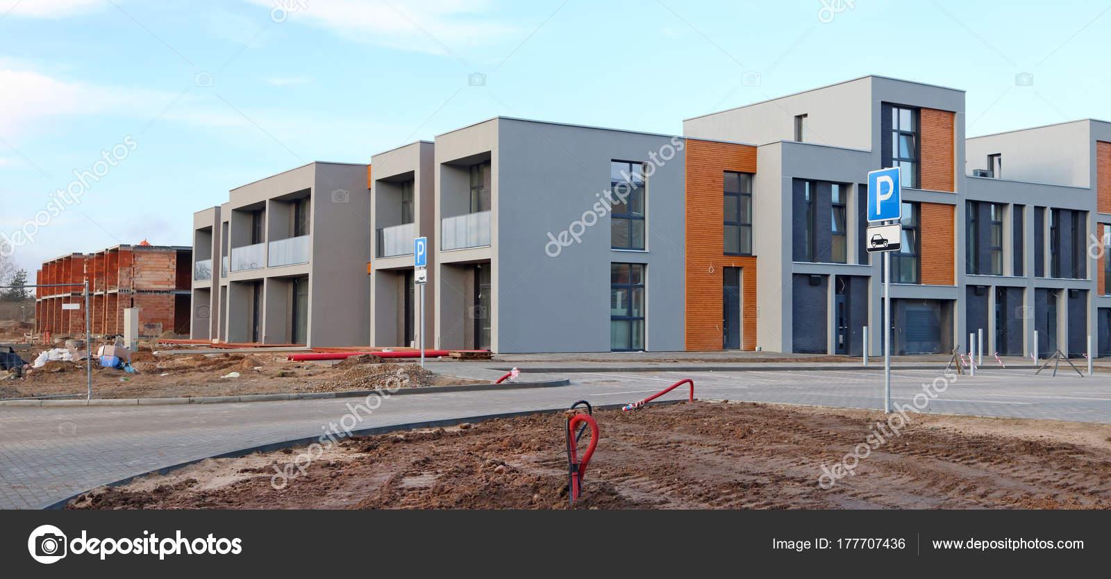 Panorama von einem modernen Standard keinen Namen Häuser Gebäude ...