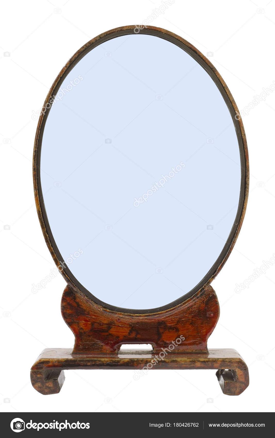 Oval marco de madera antiguo hecho a mano para el espejo de mi ...
