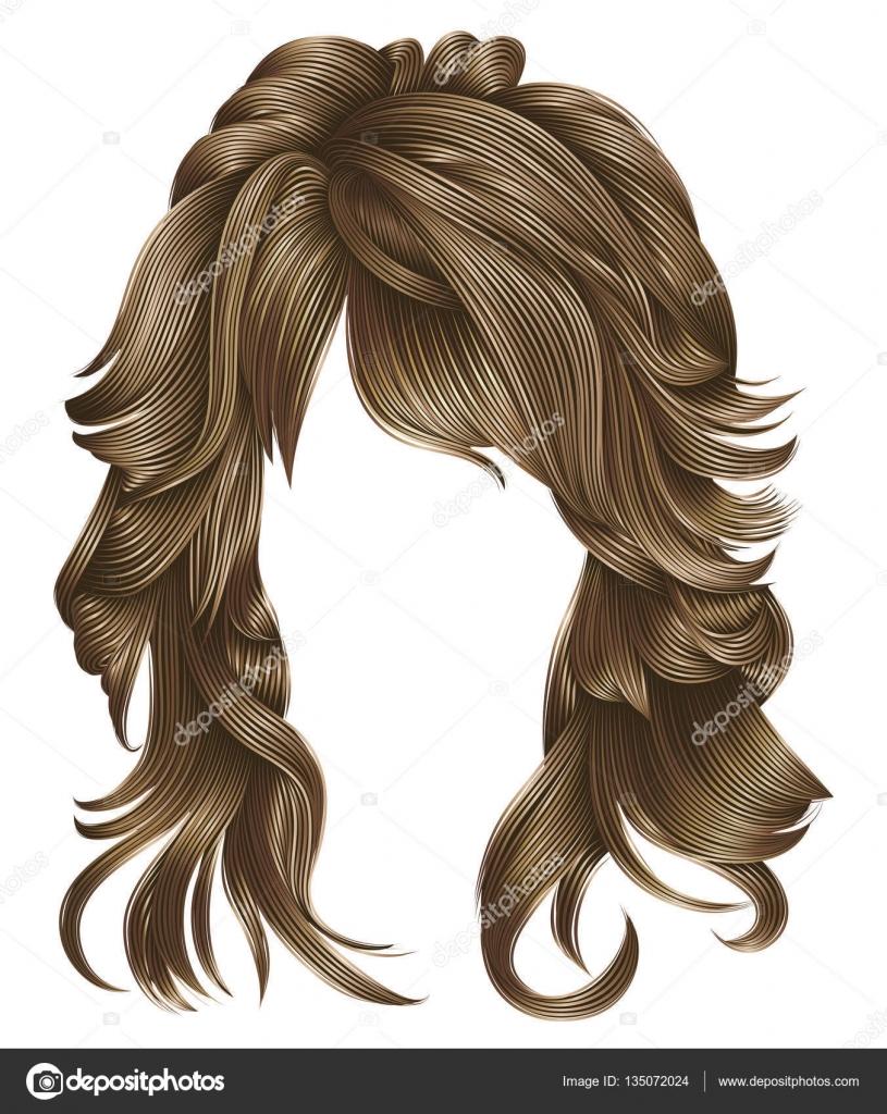 Trendige Frau Blonde Lange Haare Farben Schönheit Mode