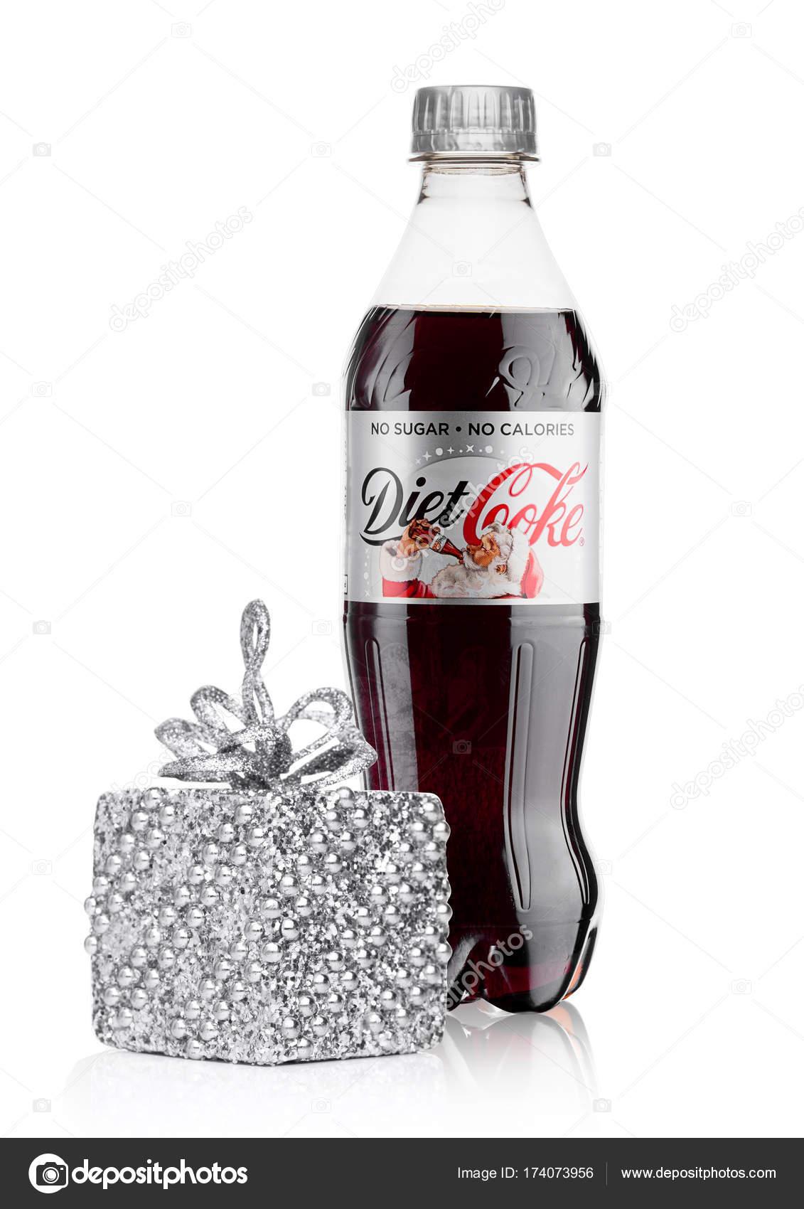 London Uk 17 November 2017 Flasche Diat Coca Cola Auf Weiss