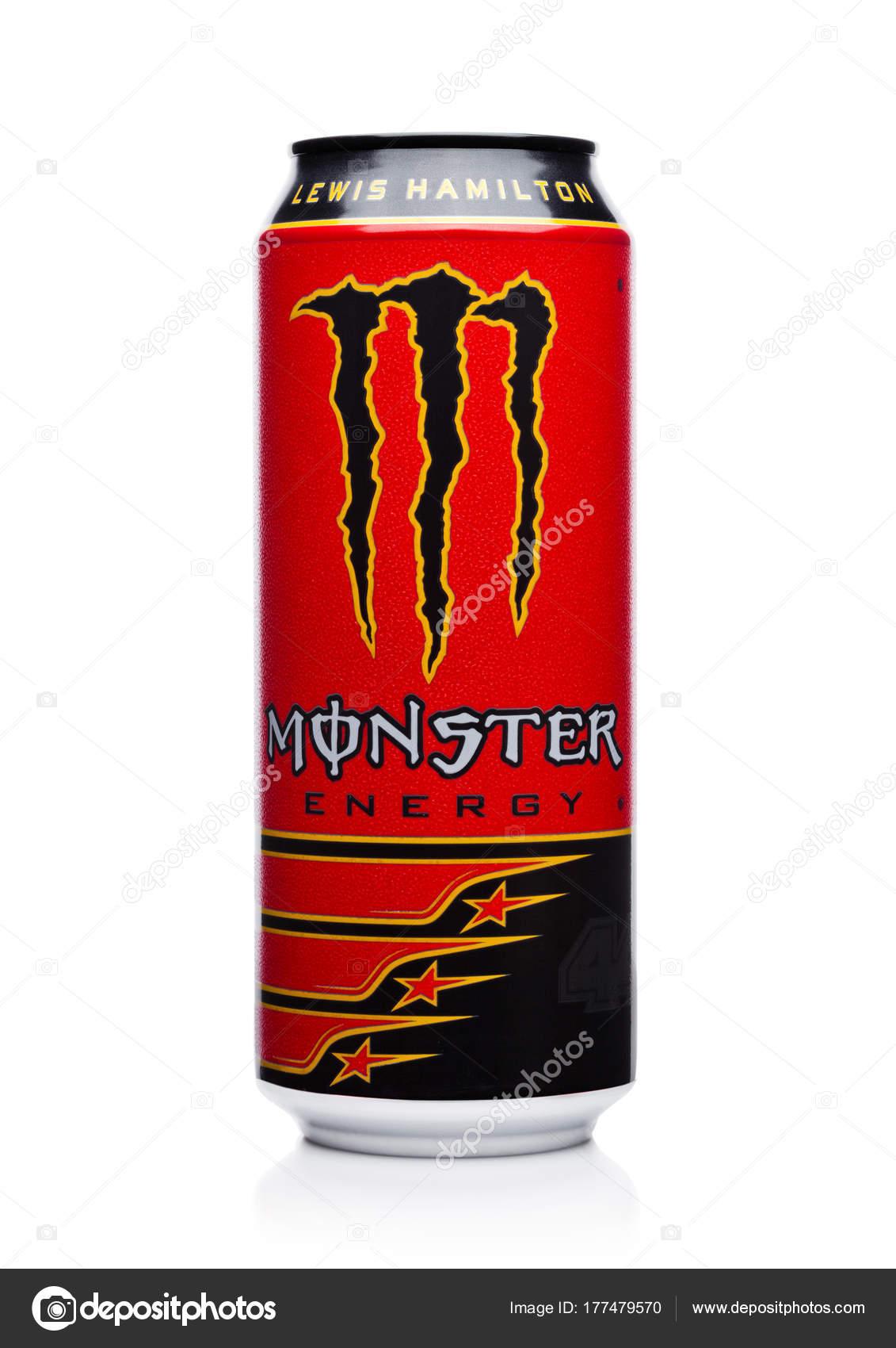 London, Uk - 15. Dezember 2017: Eine Dose der Monster Energy Drink ...