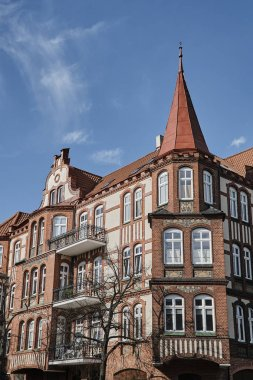 Art Nouveau facade and turret of the building