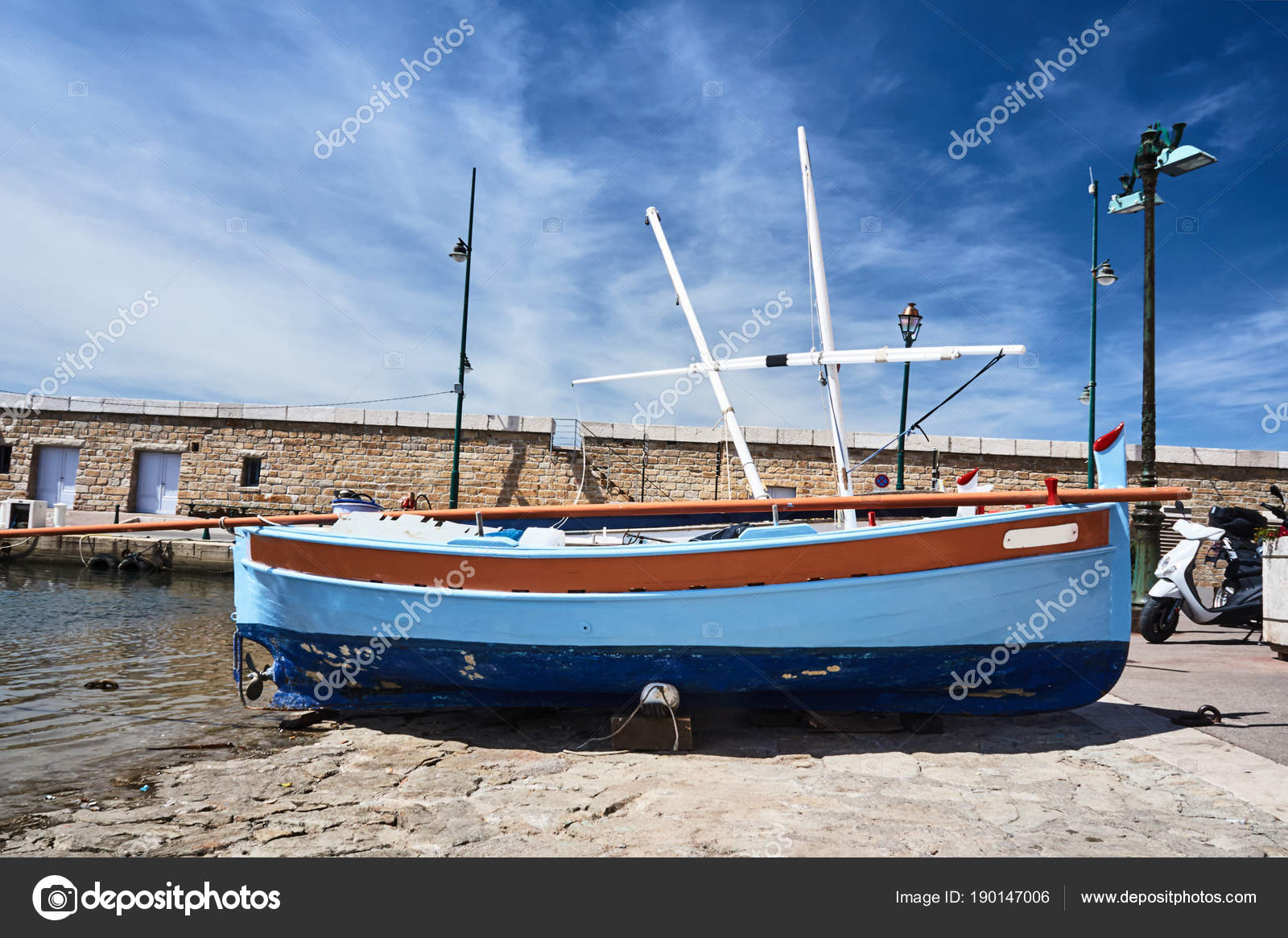 Wooden Sailboat Quay Port Saint Tropez France Stock Photo