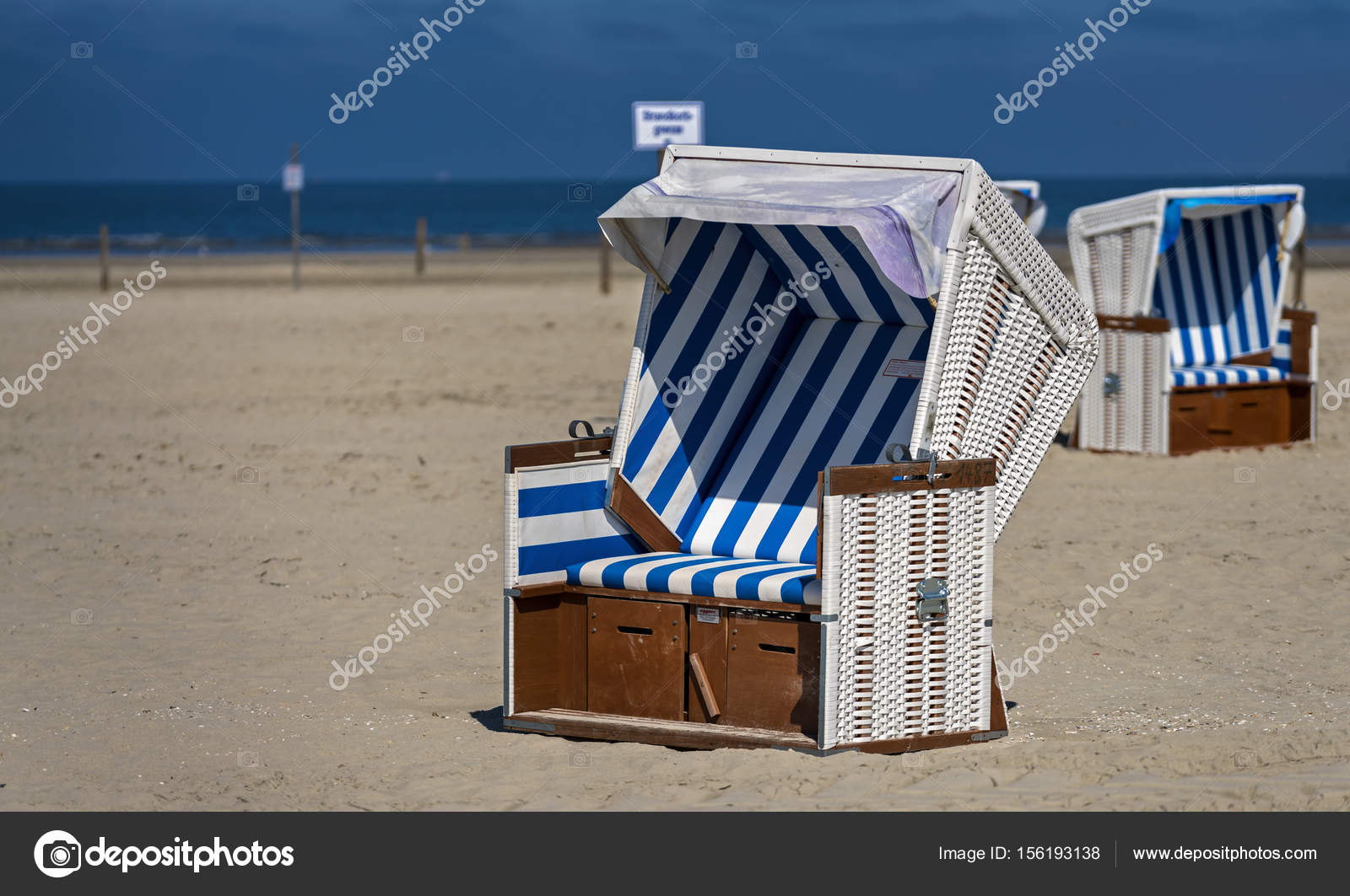 Awesome Blue White Striped Beach Baskets At The North Sea In Sankt Caraccident5 Cool Chair Designs And Ideas Caraccident5Info