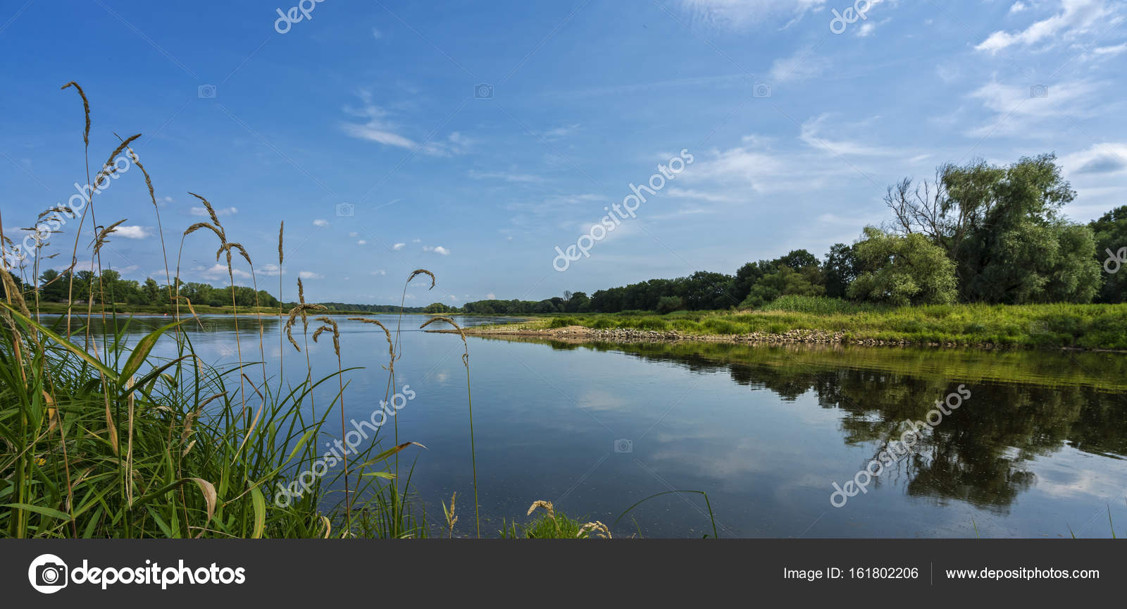 The river or in the border area between Poland and Germany