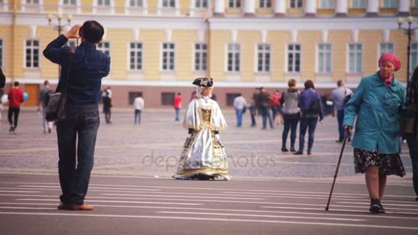 Actors Dressed as Emperor Empress St.petersburg