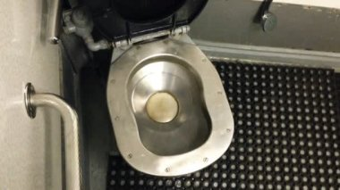 Toilet in Train