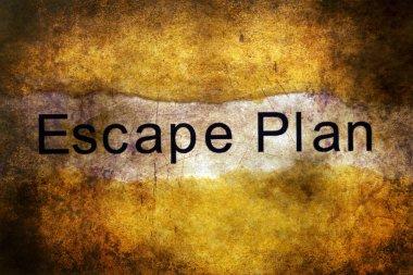 Escape plan grunge concept