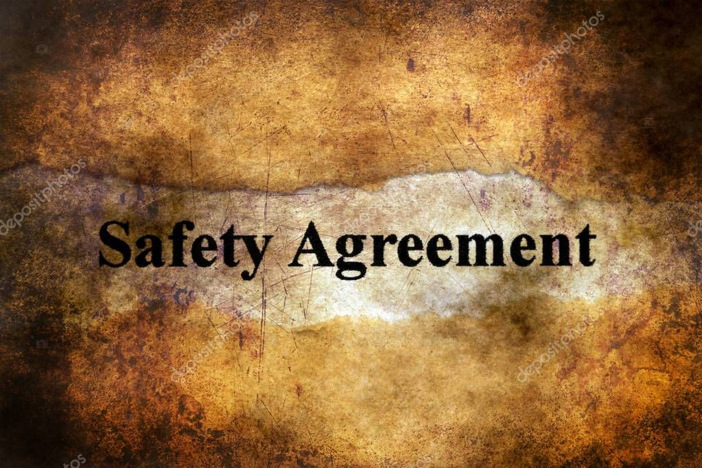 Safety Agreement Text On Grunge Background Stock Photo