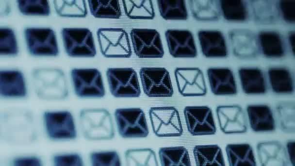 E-mailové ikony na obrazovce