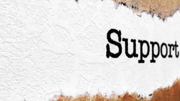 podpora text na roztrhaný papír