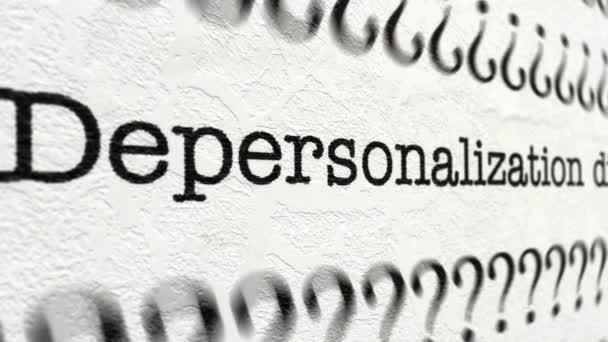 Depersonalization zavar