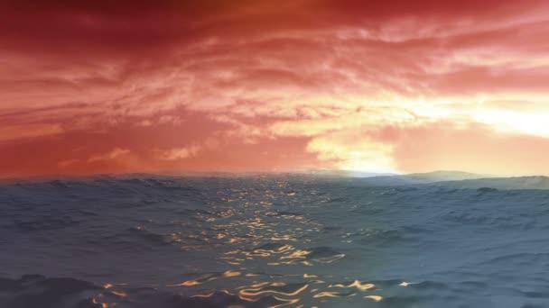 Blue Ocean View con tramonto nuvole allorizzonte