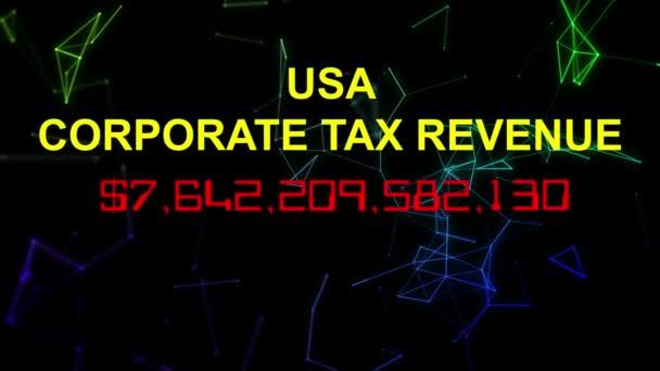 USA daň z příjmu právnických osob živě počítadlo hodin