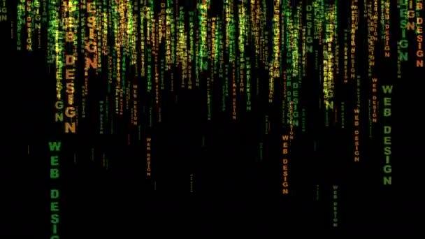 Webdesign Text-Matrix-Stil-Konzept