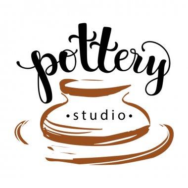 Pottery studio logo