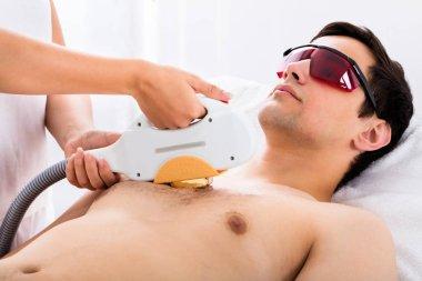 Man Receiving Laser Epilation