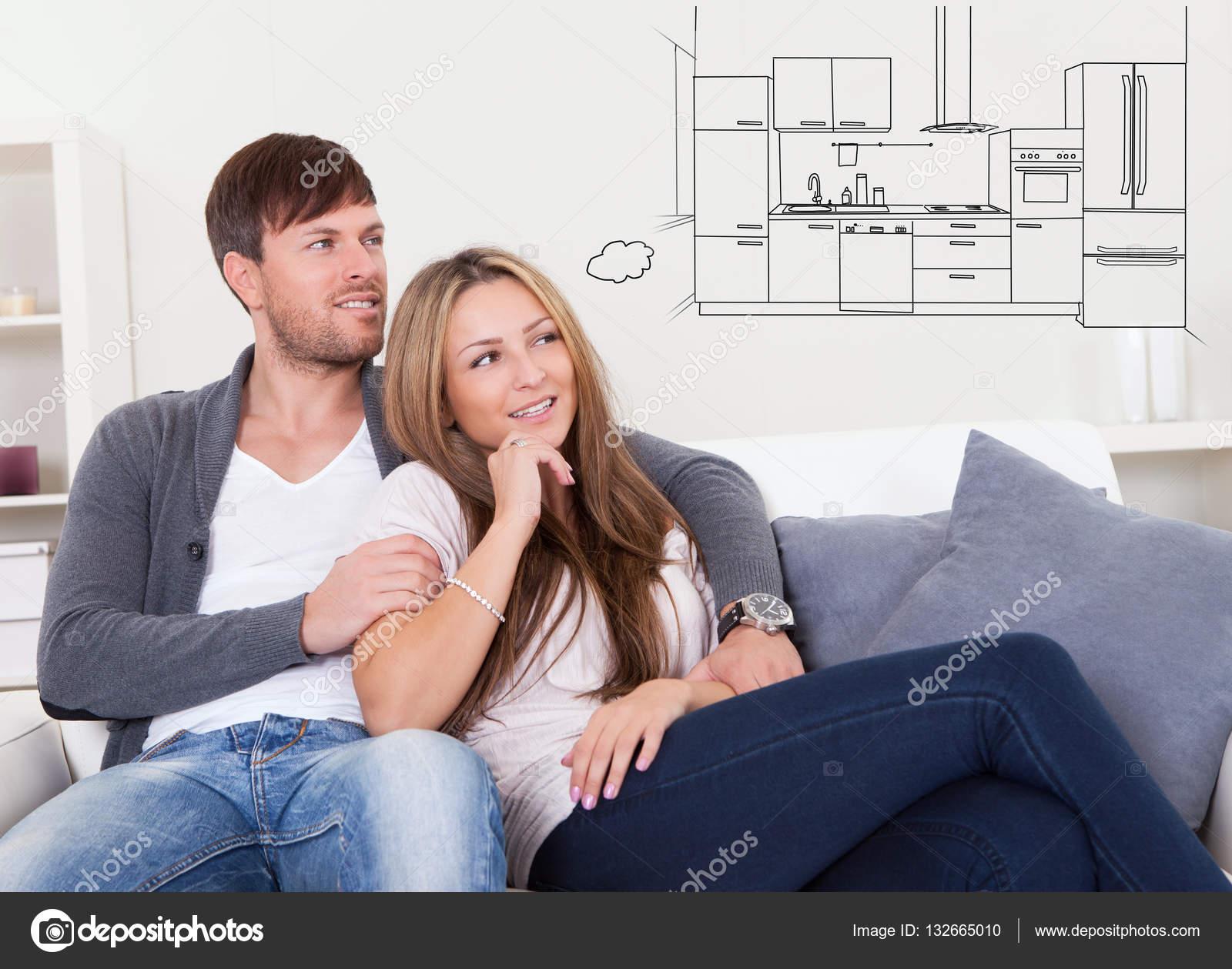 Paar der Küche denken — Stockfoto © AndreyPopov #132665010