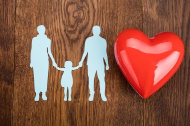 Paper Cut Family With Heart