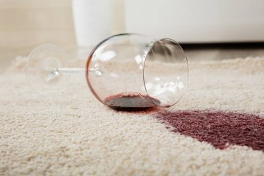 Wine Spilled On Carpet