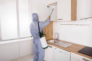 Worker Spraying Pesticide