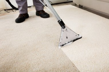 Person Cleaning Carpet