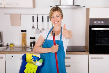 Housemaid Showing Thumbs Up