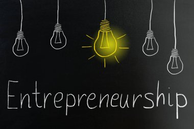 Entrepreneurship Concept On Blackboard