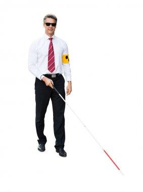 Blind Man Wearing Arm Band
