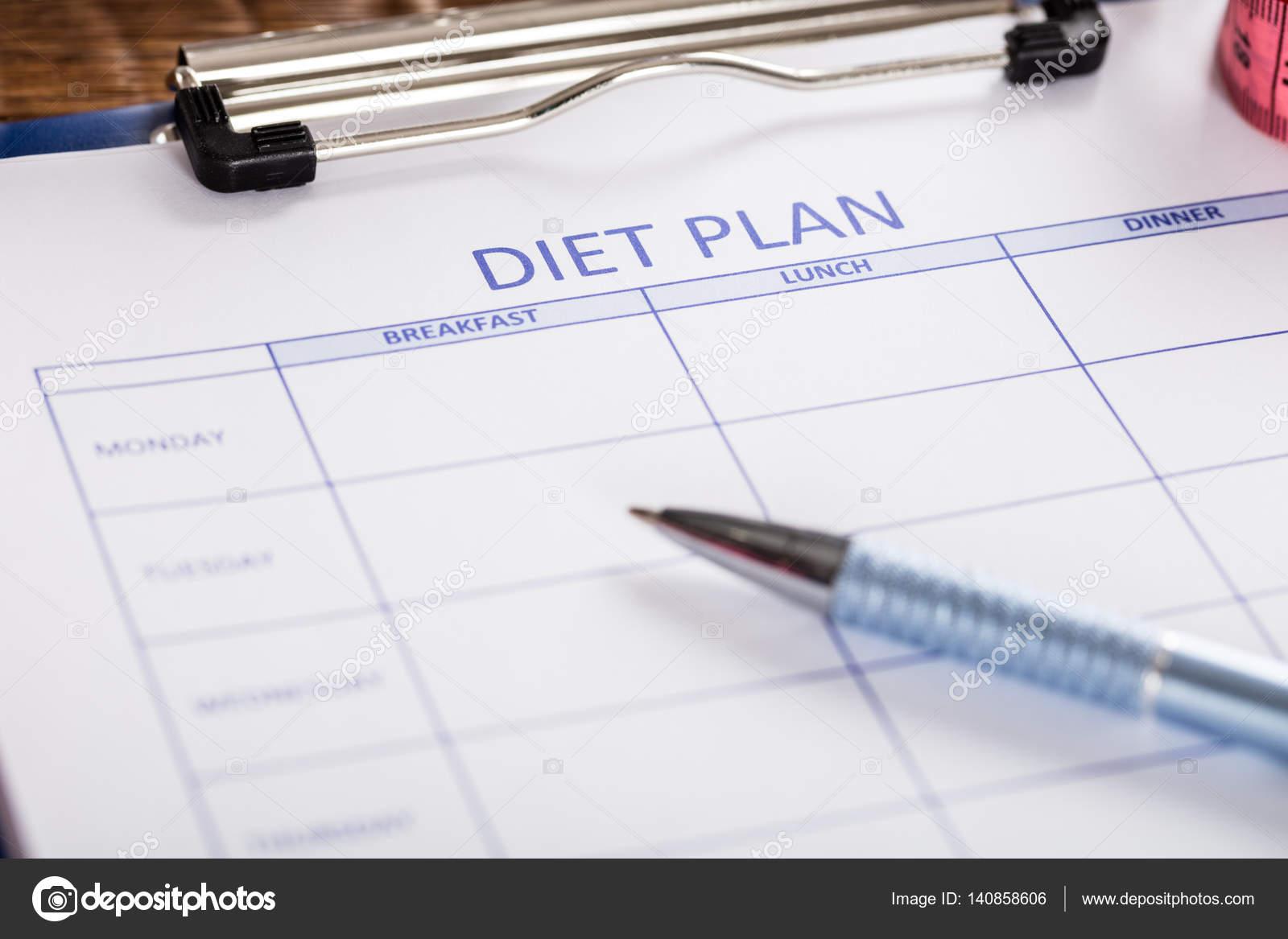Diät-Plan Formular — Stockfoto © AndreyPopov #140858606