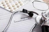 Diagnose-Inkontinenz auf Papier