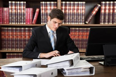 Male Accountant In Courtroom