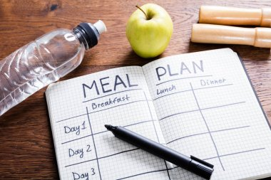 Meal Plan In Notebook