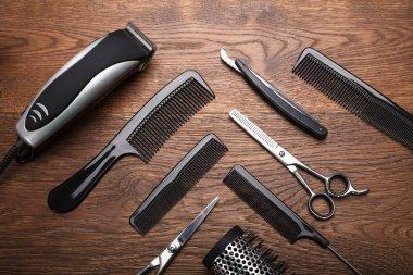 Hairdresser Tools On Desk
