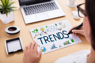 Businessperson Drawing Trends